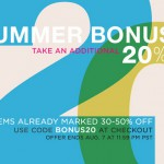 deal of the day:  20% off sale items at shopbop