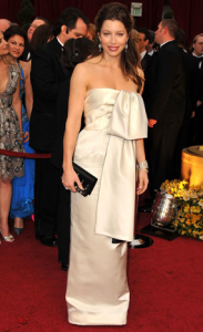 jessica biel 183x300 the good, the bad and the fugly:  oscar fashion 2009