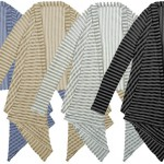 cheap thrills: echo's sheer striped cardi