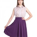 cheap thrills: american apparel shirred jersey skirt
