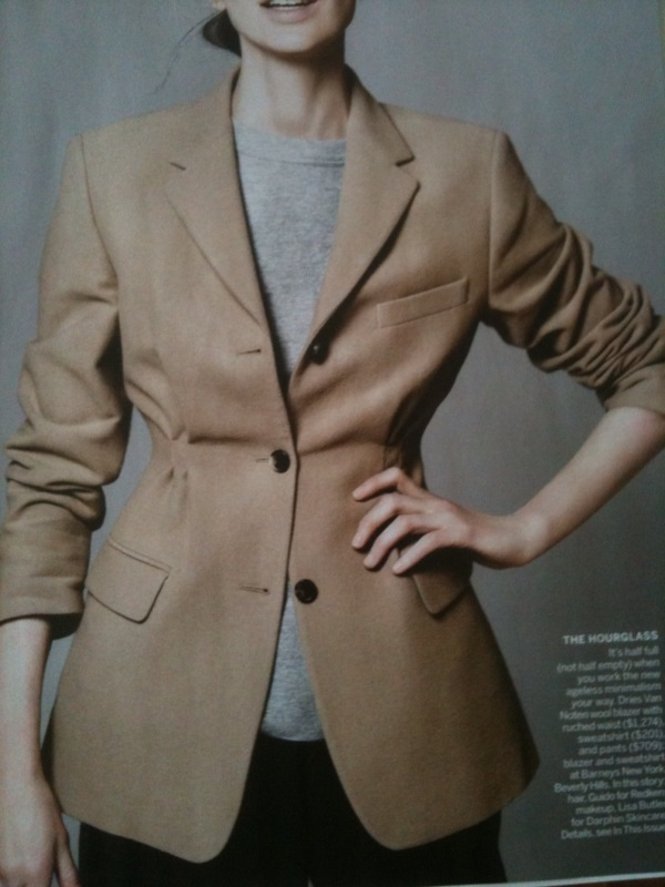 dries blazer aug 10 vogue DIY, couture style
