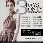spend & save event at shopbop