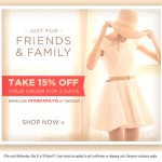 this just in: shopbop friends & family