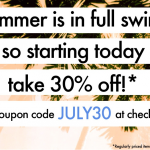 sweet summer sale at tobi
