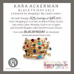 black friday exclusive: 50% off kara ackerman's judie bangle