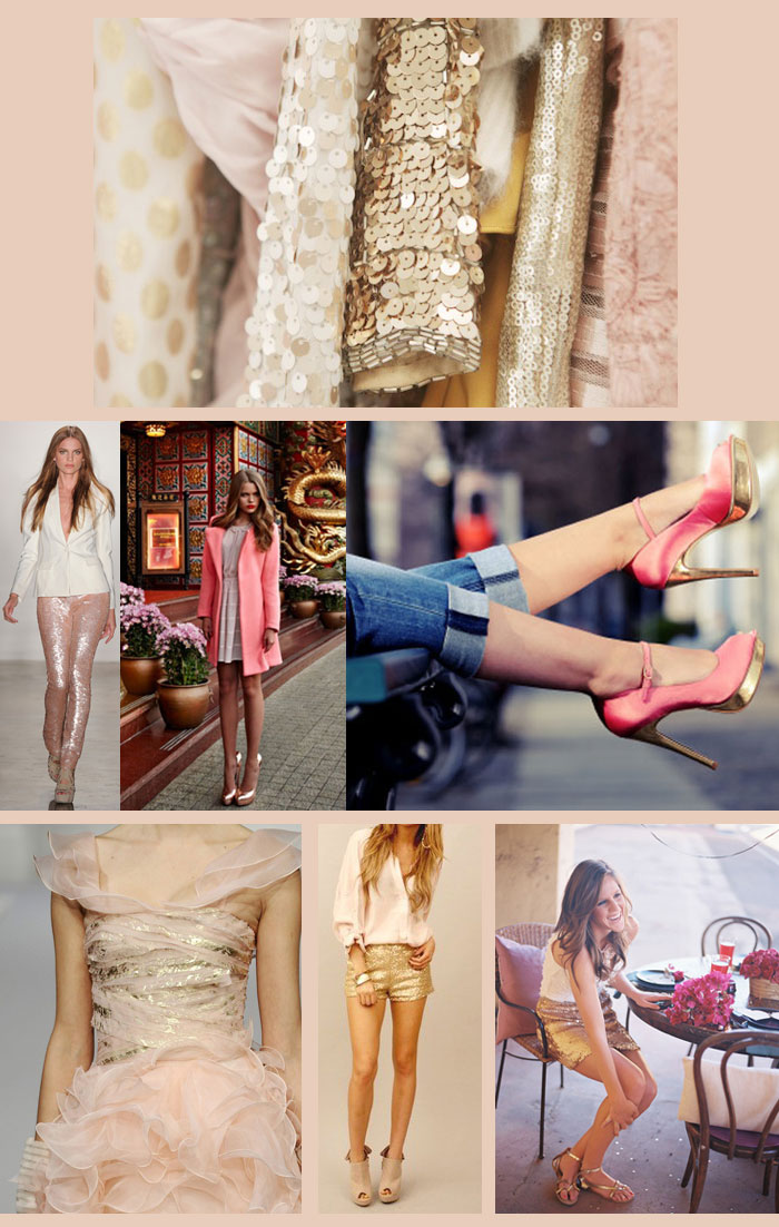 pink and gold trend to try: pink and gold