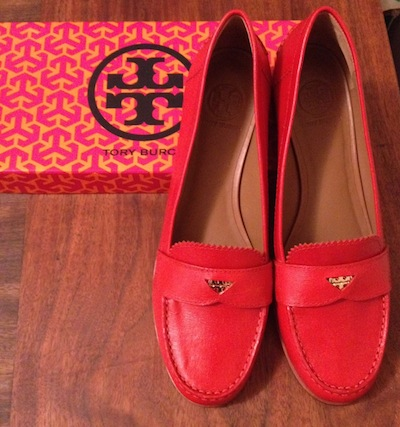 Photo1 off the rack: tory burch penny loafer