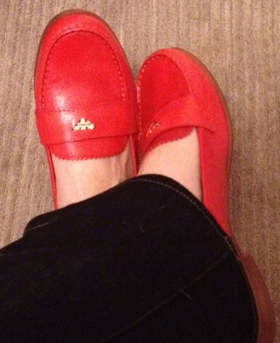 Photo2 off the rack: tory burch penny loafer