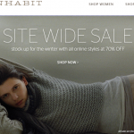 this just in: 70% off winter styles at inhabit