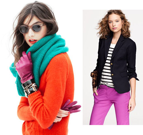 jcrew brights and stripes trend to try: brights + stripes