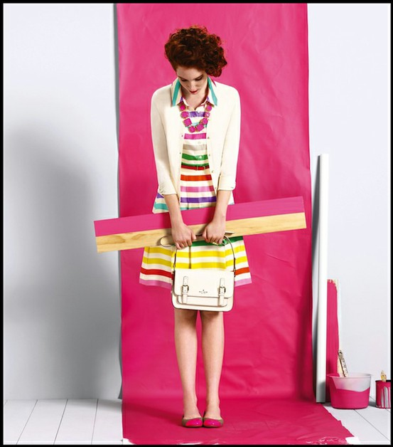 kate spade trend to try: brights + stripes