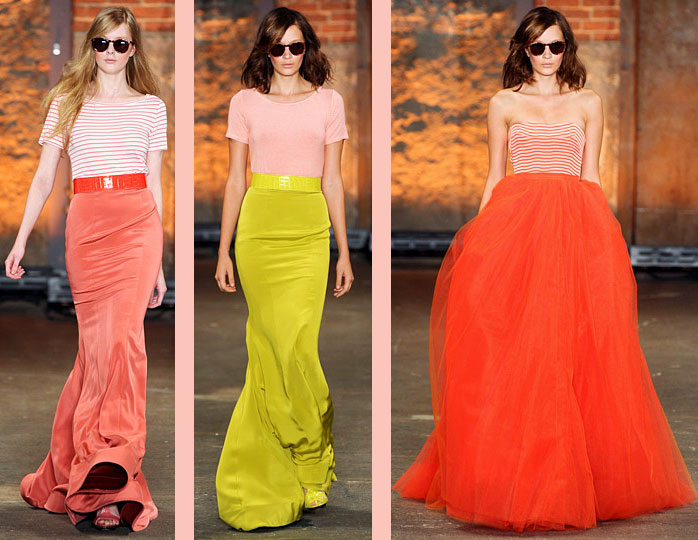 siriano brights and stripes trend to try: brights + stripes