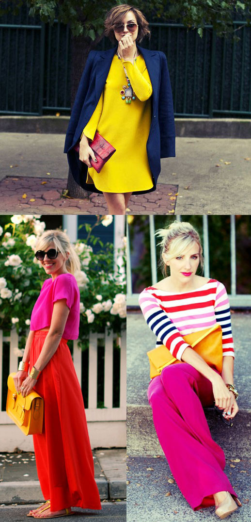 street brights and stripes trend to try: brights + stripes