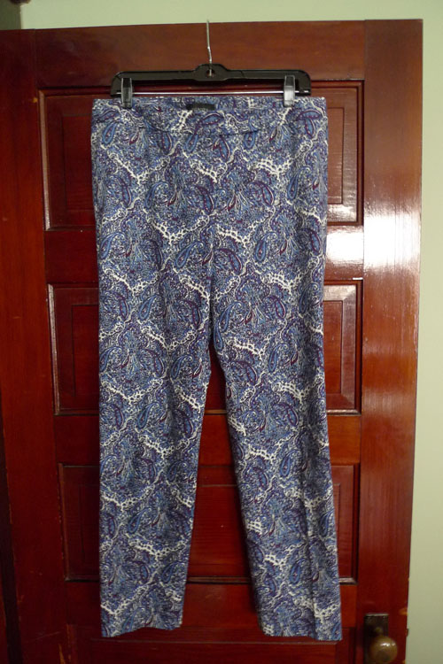 paisley off the rack double feature: cropped pants