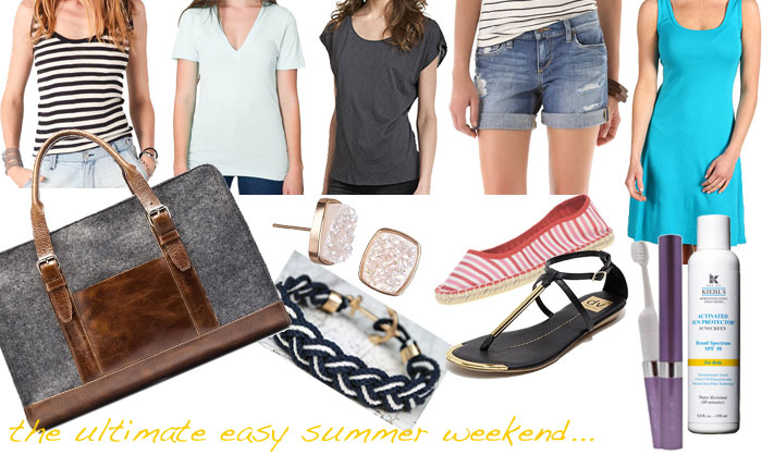 easy summer weekend travel in style: the perfect summer packing list!