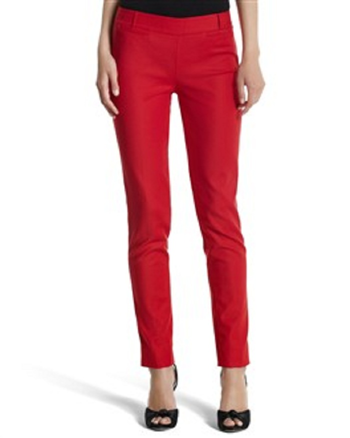 Red City Pants on the cheap: the classic french girl