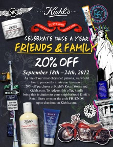 KIEHLS 2012 FF Flyer FINAL 231x300 this just in: F&F at kiehls!