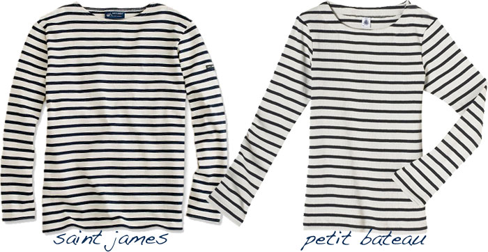 marinere the classics: saint james vs. petit bateau