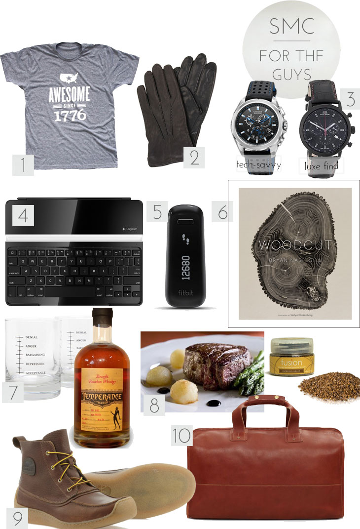 SMC gift guides for the guys get gifting: for the guys