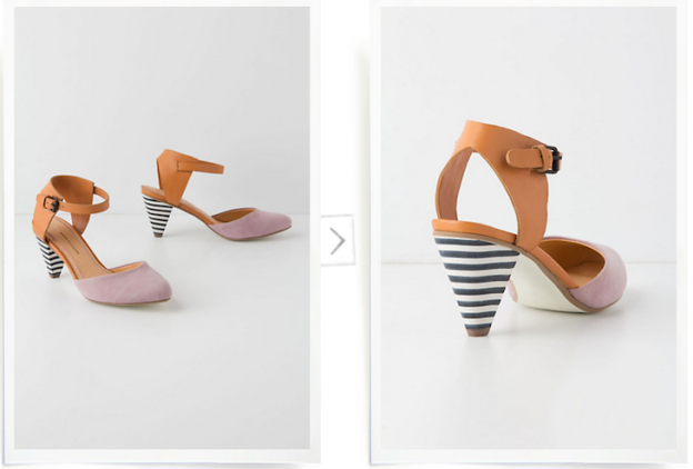 Anthropologie Pilcro Korin d'Orsay heels - via Shopping's My Cardio