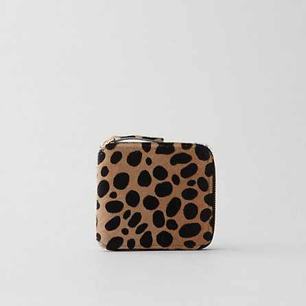 VEN ALL NA VA HALF ZIP WALLET LEOP CALF PD double take: clare vivier leopard wallet