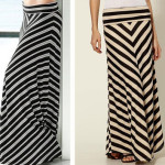 cheap thrill: chevron maxi skirt