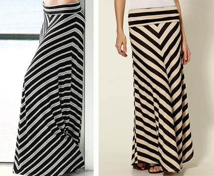 chevron maxi skirts cheap thrill: chevron maxi skirt