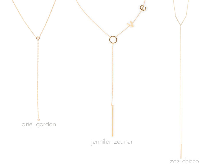 Lariat necklaces, via Shopping's My Cardio