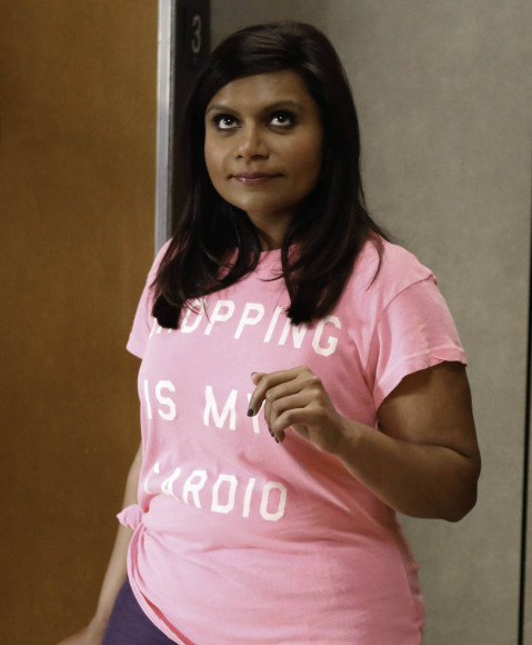 mindys pink shopping is my cardio tshirt 479x580 shopping is my cardio...and its mindy kalings too!