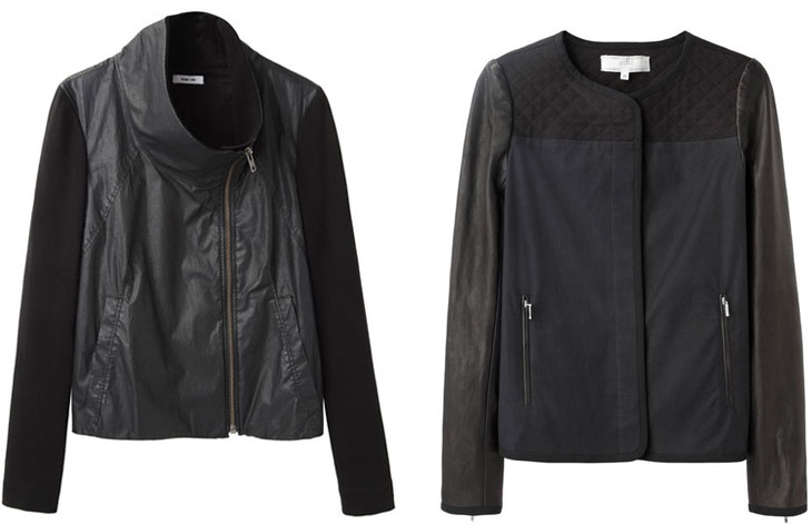 Contrast-sleeve jackets, via shopping's my cardio