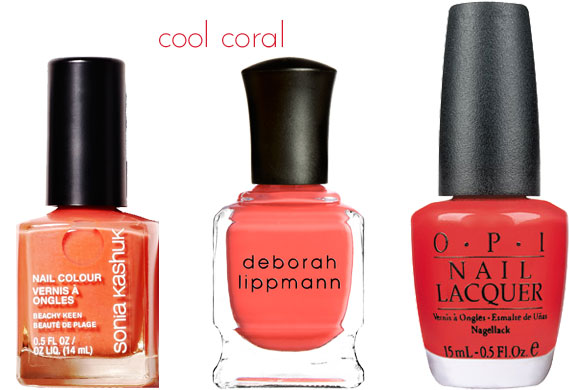 Best Summery Coral nail colors, via shopping's my cardio