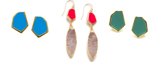 Janna Conner enamel earrings, via shopping's my cardio