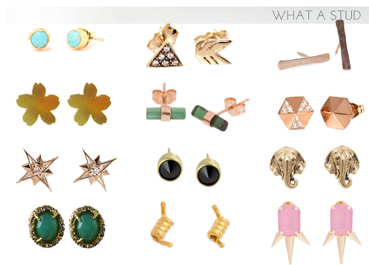 studs what a stud: 12 stud earrings perfect for summer