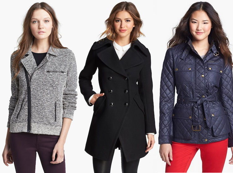 Nordstrom Anniversary Sale coats, rag bone biker jacket, trina turk officers coat, michael kors field jacket