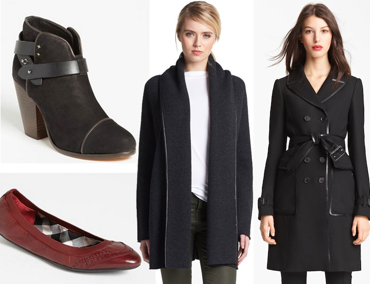 Nordstrom Anniversary Sale Picks, rag & bone harrow, booties, vince leather cardigan, burberry trench