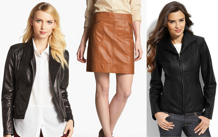 Nordstrom Anniversary Sale leather, calvin klein leather jacket, halogen leather skirt, cole haan leather jacket
