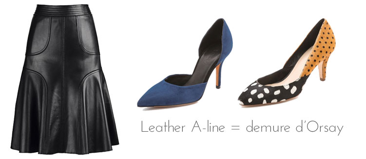 Shoes for a leather skirt, via shopping's my cardio