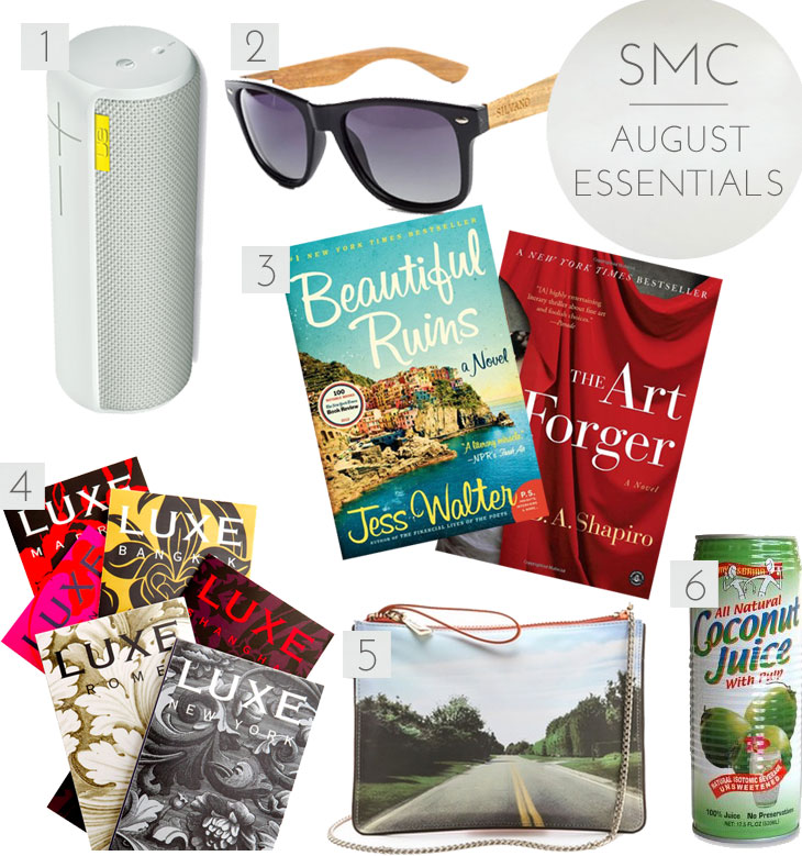 August Essentials, best summer buys, summer accessories, summer books, summer drinks