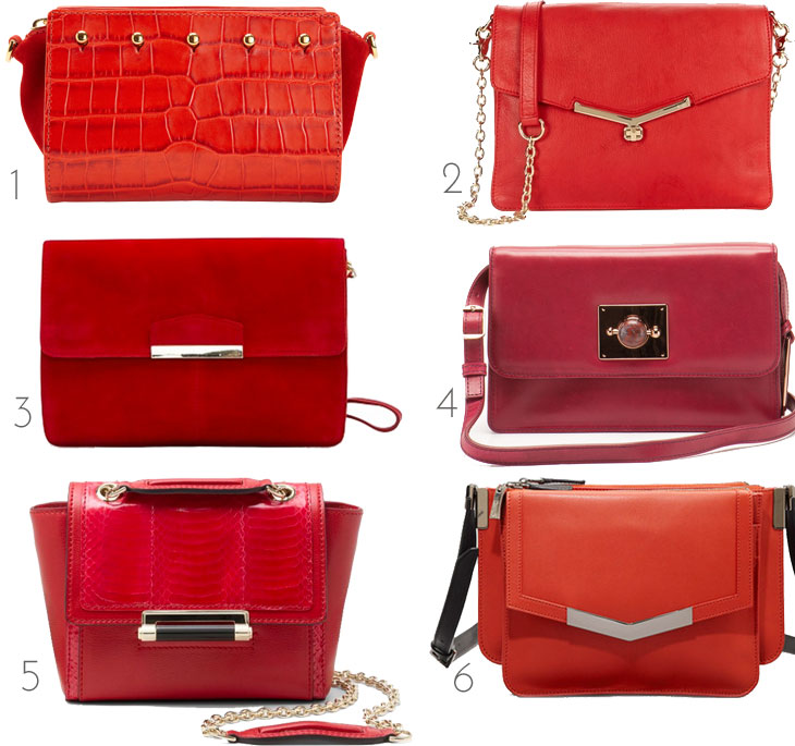 red handbag, fall bags, red bag, structured red handbag