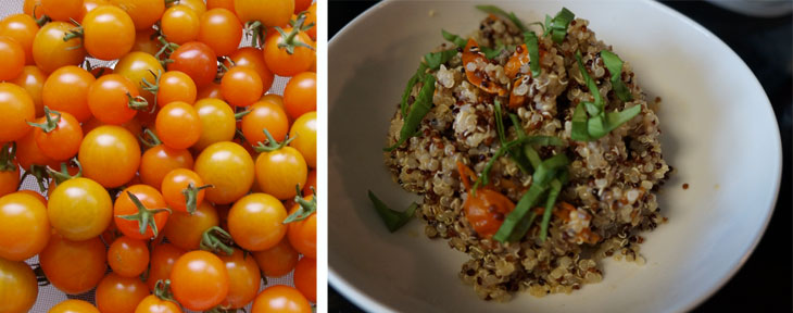 roasted tomato quinoa, quinoa recipe, quinoa side dish
