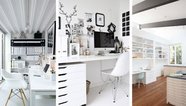white-office-inspiration, via shopping's my cardio