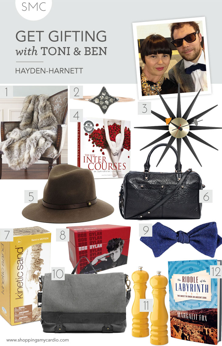 holiday gift guide hayden harnett gift guide: toni & bens finds for the hip couple