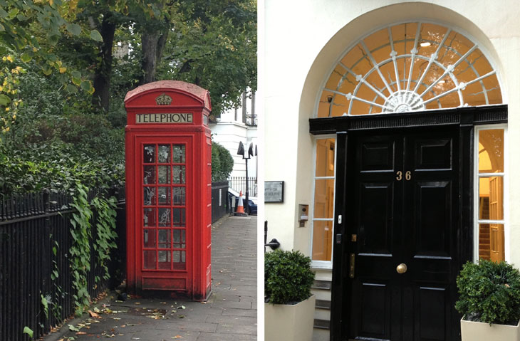 london scenery, london travel, london sights, red telephone booth, london doorway