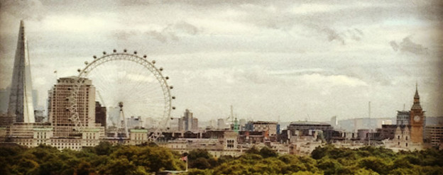 london skyline, via shopping's my cardio