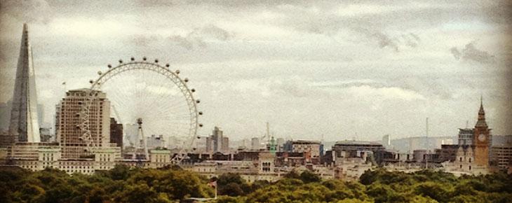 london skyline, london view, four seasons park lane, london eye