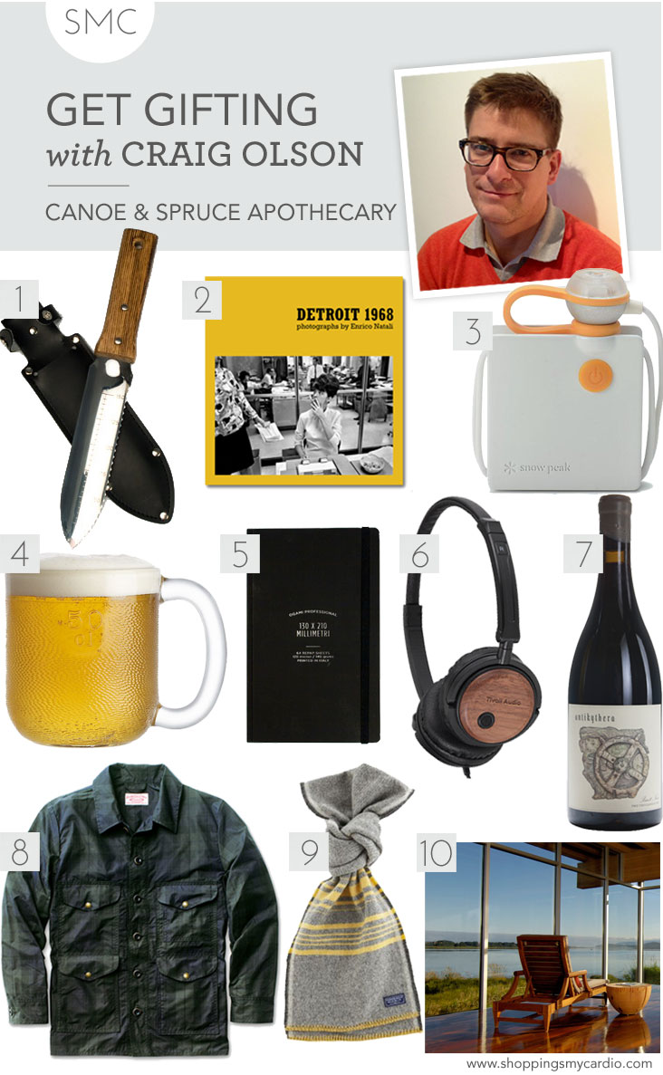 men's gift guide, mens gift guide, gift guide men, guys gifts, craig olson gift guide