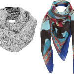 topshop scarves 150x150 the how to: bundle up in style