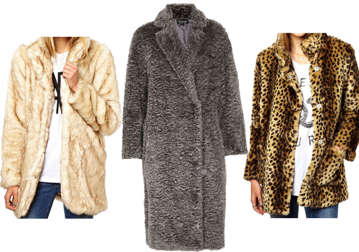 faux fur coats the how to: bundle up in style