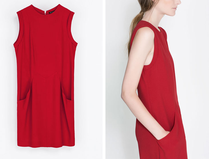 zara red dress, via shopping's my cardio