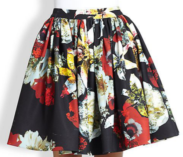 alice + olivia pia skirt this just in: $75 off $300 at saks